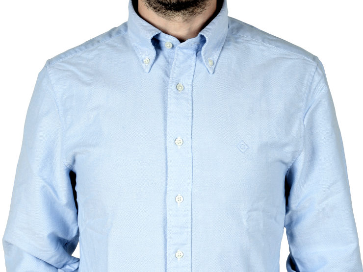 Camicia regular fit, button-down Gant in tela di cotone oxford, con logo 'diamond G' ricamato sul petto