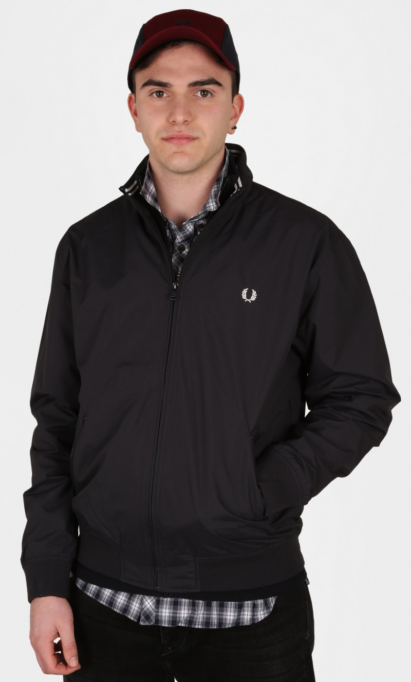 Bomber twin tipped Fred Perry in tessuto Ripstop di nylon con fodera in rete