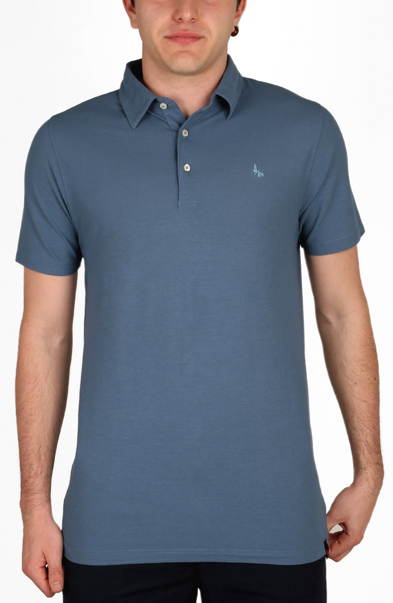 Polo manica corta, slim-comfort fit, tre bottoni Gran Sasso in filo di Scozia, con collo e polsini a camicia; 100% made in Italy